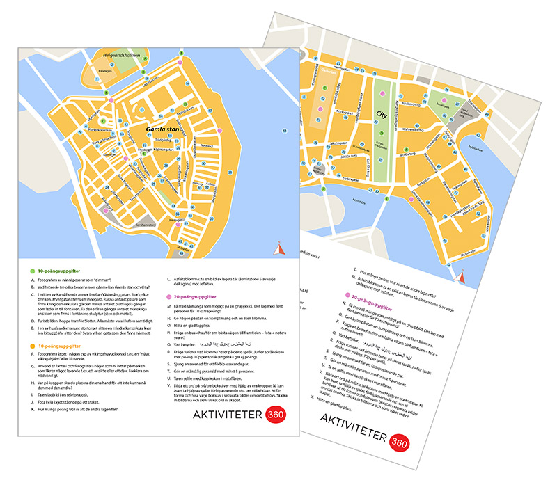Maps and information Design for Citykampen