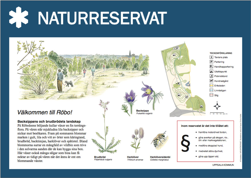 Example in layout for Nationalpark Design